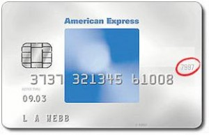 Description: American Express Card Blue