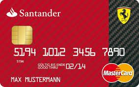 Description: Santander Ferrari Card